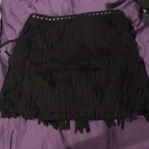 Forever21 fringe skirt women